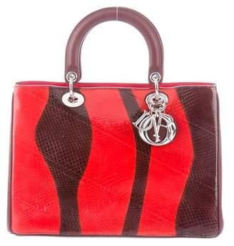 f97c84427cce5 Christian Dior Large Calfskin   Ayers Lady Bag