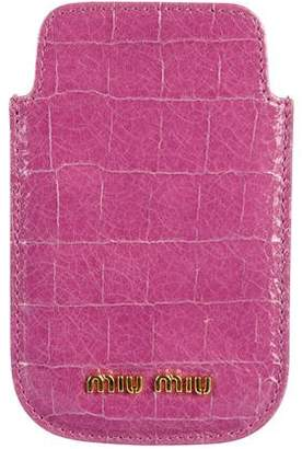 Miu Miu Embossed Phone Pouch