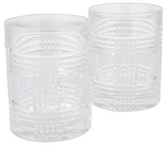 Ralph Lauren Pair of Glen Plaid Double Old Fashioned Glasses