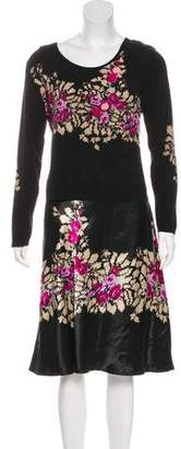 Blumarine Floral Print Mini Skirt Set