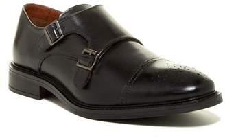 Joseph Abboud Bishop Cap Toe Double Monk Strap Leather Shoe