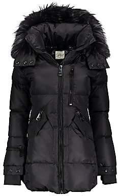 SAM. Women's Cruiser Fur-Trim Down Puffer Coat