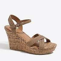 J.Crew Factory Strappy cork wedges