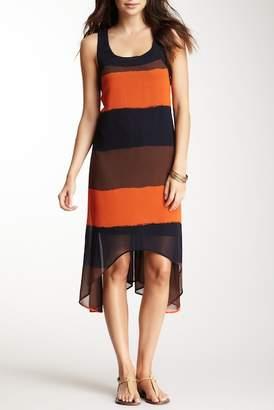 Papillon Striped Hi-Lo Dress