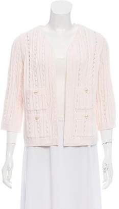 Chanel Pleated Open Front Cardigan