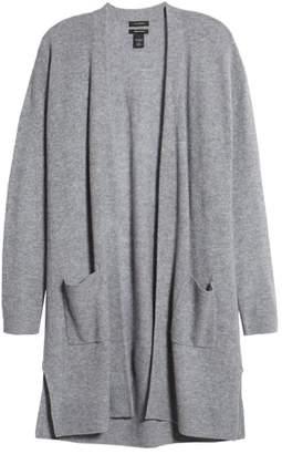 Halogen Rib Knit Wool & Cashmere Cardigan