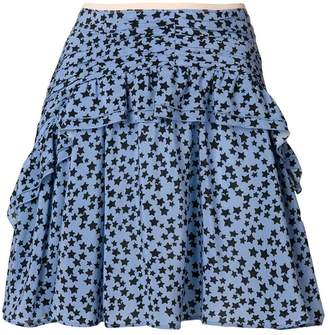 No.21 star print ruffle skirt