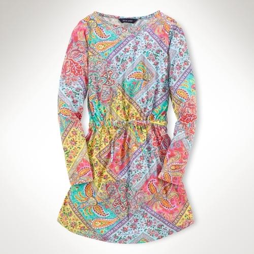 Paisley Cotton T-Shirt Dress