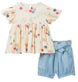 Jessica Simpson Blouse & Shorts Set (Baby Girls)