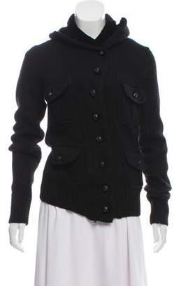 Nicholas K Merino Wool Blend Velvet-Trimmed Jacket
