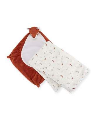 Angel Dear Take Me Home Fox Swaddle and Blankie Gift Set