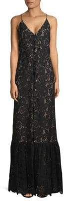 Lanvin Sleeveless Lace Floor-Length Gown