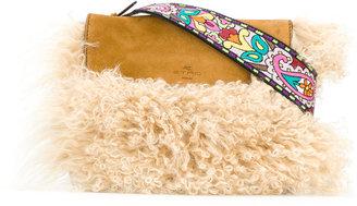 shearling cross-body bag