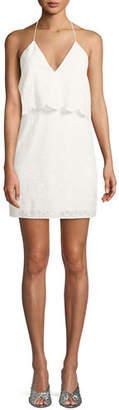 CAMI NYC The Ashley Popover Eyelet Mini Dress
