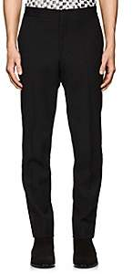 Saint Laurent Men's Satin-Striped Wool Tuxedo Trousers - Black