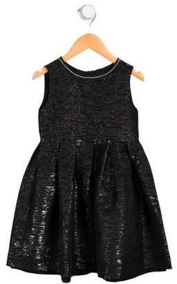 Rachel Riley Girls' Brocade A-Line Dress