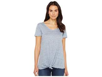 Blank NYC Tee Shirt with Knot Detail in Believe It or Not Women's T Shirt
