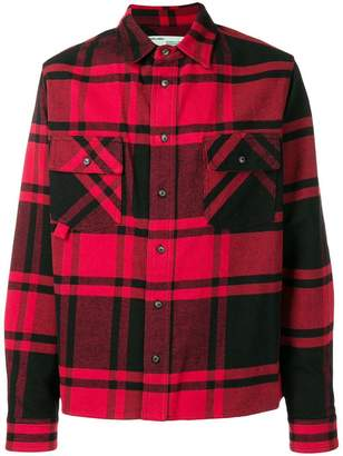 Off-White stencil plaid flannel shirt