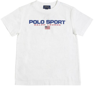 Ralph Lauren LOGO PRINTED COTTON JERSEY T-SHIRT