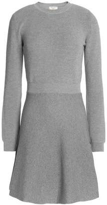 MAISON KITSUNÉ Fluted Wool-Blend Mini Dress