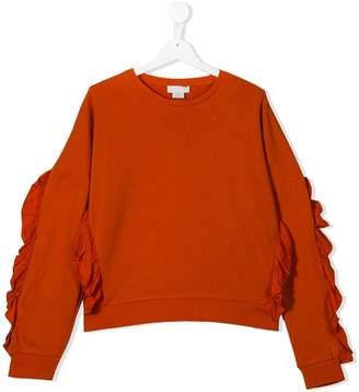 Stella McCartney ruffled trim sweatshirt