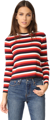 Whistles Multi Stripe Sweater $180 thestylecure.com
