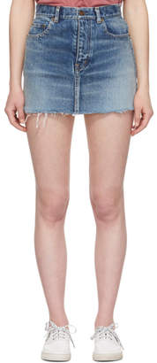 Saint Laurent Blue Denim Miniskirt