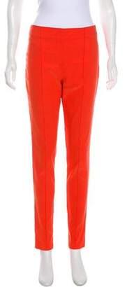 Veronica Beard High-Rise Linen-Blend Pants