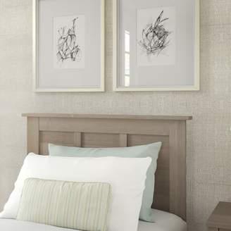 Ash Bush Furniture Somerset Twin Size Headboard in Gray