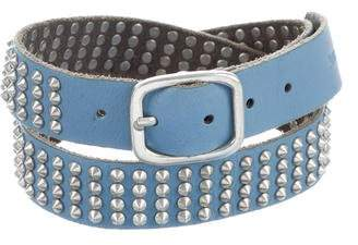 Zadig & Voltaire Leather Spike Belt