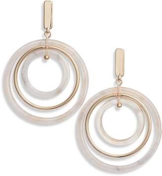 Halogen Circle Drop Earrings