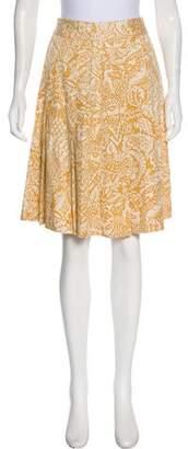 Brooks Brothers Silk Pleated Knee-Length Skirt