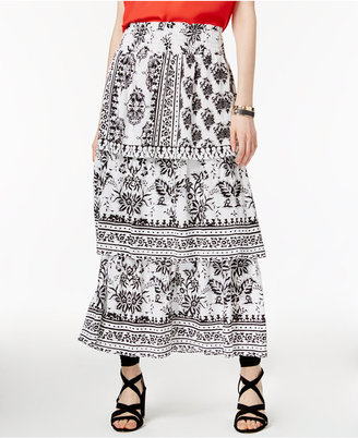 INC International Concepts Tiered Maxi Skirt, Only at Macy's $99.50 thestylecure.com