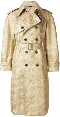 Maison Margiela buttoned embossed design coat