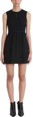 RED Valentino Bow Black Viscose Dress