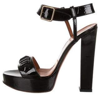 Lanvin Patent Leather Round-Toe Sandals