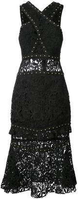 Nicole Miller studded lace dress
