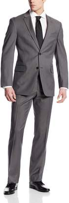 Tommy Hilfiger Men's Nathan Stripe 2 Button Side Vent Suit