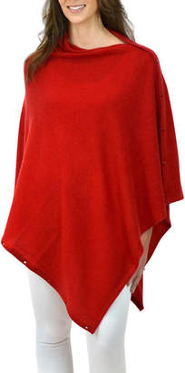 604d645ff Thomas Laboratories Mimi & cashmere & leather Red Personalised Pure  Cashmere Wrap Poncho Gift Boxed