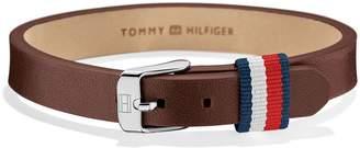 Tommy Hilfiger Brown Leather Mini Bracelet