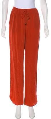 Haute Hippie High-Rise Silk Pants