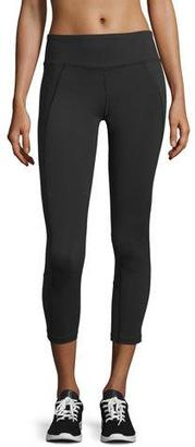 The North Face Dynamix Cropped Sport Leggings, TNF Black $80 thestylecure.com