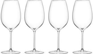 LSA International Wine Red Goblet Set of 4