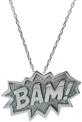Edge Only Bam Pendant Extra Large in Silver