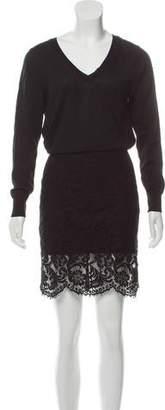 Sacai Wool Long Sleeve Dress