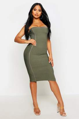 boohoo Bandeau Bandage Midi Bodycon Dress