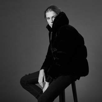 Sandro Velvet padded jacket