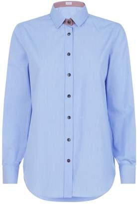Brunello Cucinelli Satin Contrast Shirt