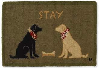 L.L. Bean L.L.Bean Wool Hooked Rug, Lab Stay
