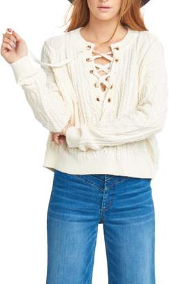 Show Me Your Mumu Snowflake Cable Knit Sweater